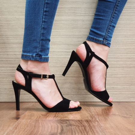 Sandale Piele Naturala Guban Negre Fifi0