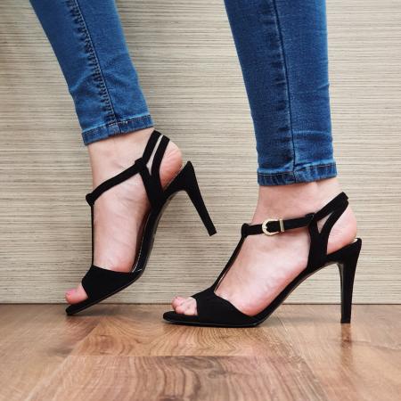 Sandale Piele Naturala Guban Negre Fifi1
