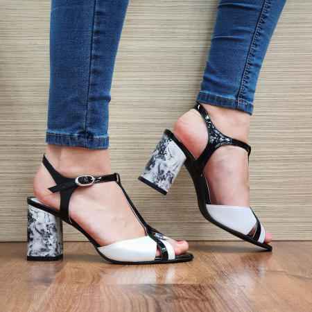Sandale Piele Naturala Albe Opal0