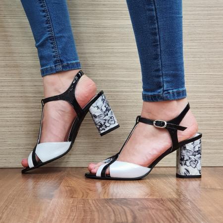 Sandale Piele Naturala Albe Opal1