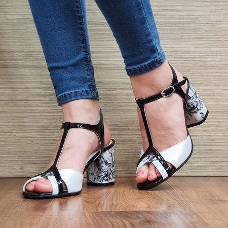Sandale Piele Naturala Albe Opal2