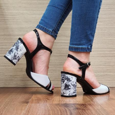 Sandale Piele Naturala Albe Opal3