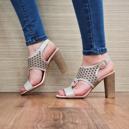 Sandale Piele Naturala Nude Alexia [1]
