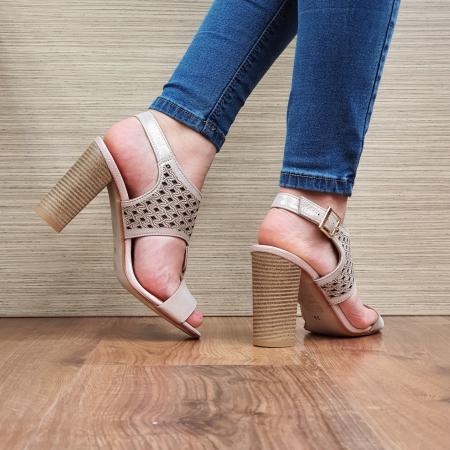 Sandale Piele Naturala Nude Alexia [3]