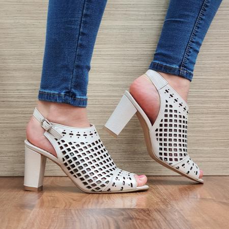 Sandale Piele Naturala Bej Annis