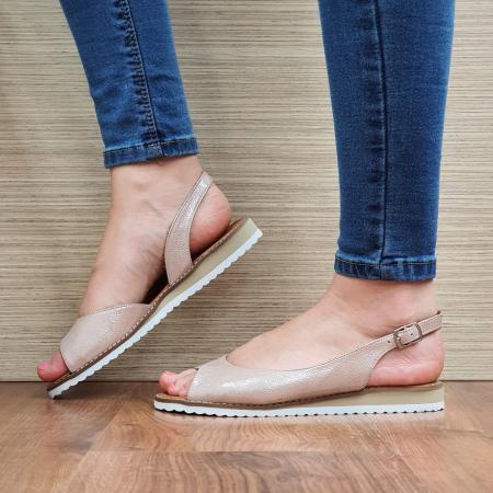 Sandale Piele Naturala Nude Chiara D023542