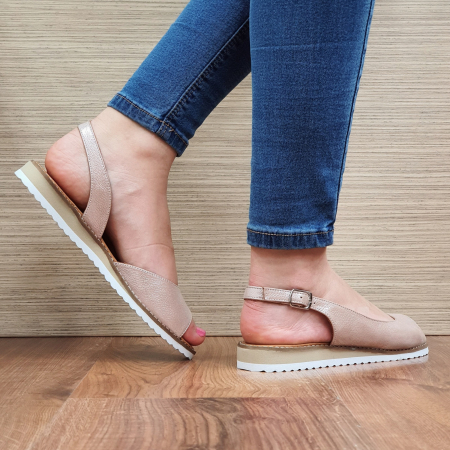 Sandale Piele Naturala Nude Chiara D023543