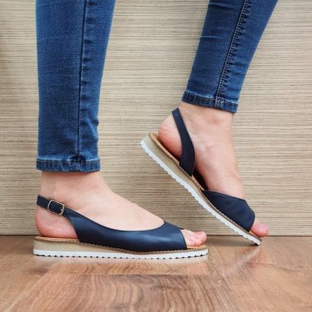 Sandale Piele Naturala Bleumarin Chiara D02355 [0]
