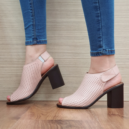 Sandale Piele Naturala Nude Lara1