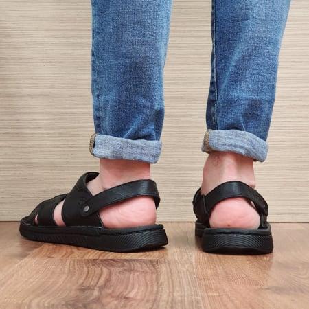 Sandale/Papuci Barbati Piele Naturala Negri Avram B000543