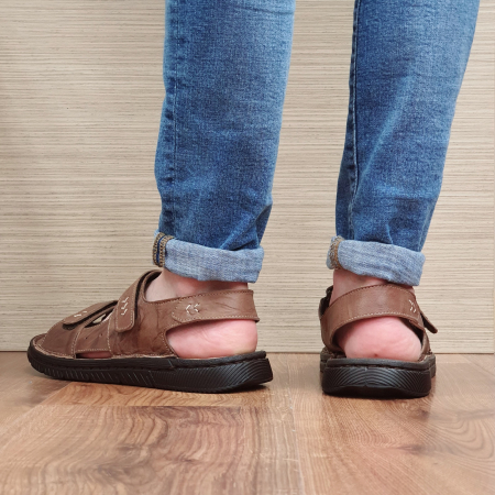 Sandale Barbati Piele Naturala Maro Atanasie B00055 [2]