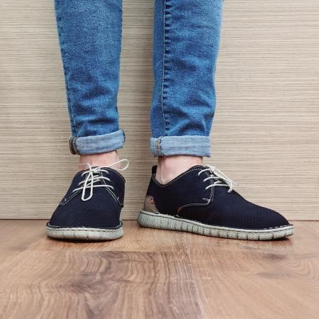 Pantofi Casual Barbati Piele Naturala Bleumarin Arnav B000572