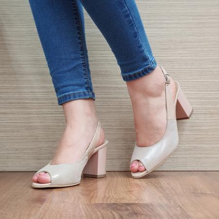 Sandale Piele Naturala Nude Rosalinda [2]