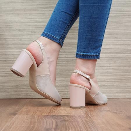Sandale Piele Naturala Nude Rosalinda [3]