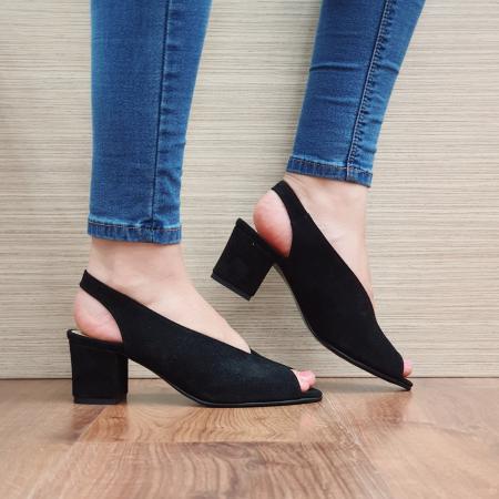 Sandale Piele Naturala Negre Alysa0