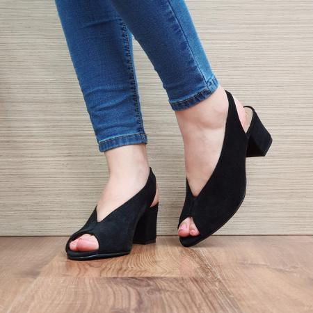 Sandale Piele Naturala Negre Alysa2