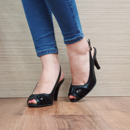 Sandale Piele Naturala Guban Negre Luise [2]