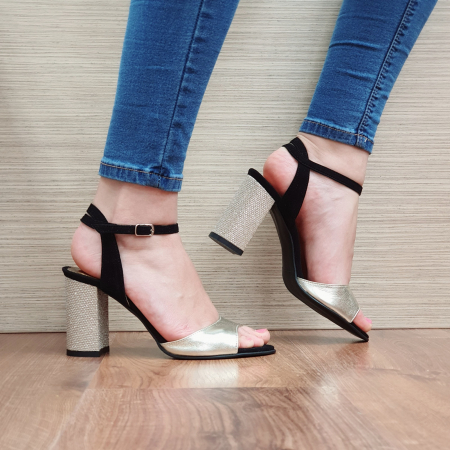 Sandale Piele Naturala Negre Sona [1]