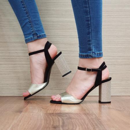 Sandale Piele Naturala Negre Sona [2]