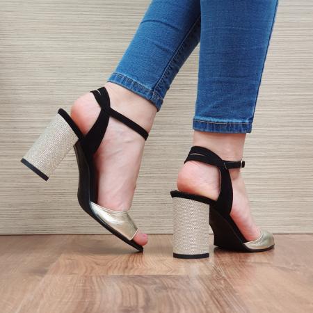Sandale Piele Naturala Negre Sona [3]