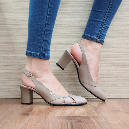 Sandale Piele Naturala Grej Salma [0]