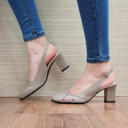 Sandale Piele Naturala Grej Salma [1]