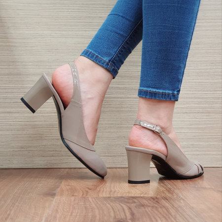 Sandale Piele Naturala Grej Salma [3]