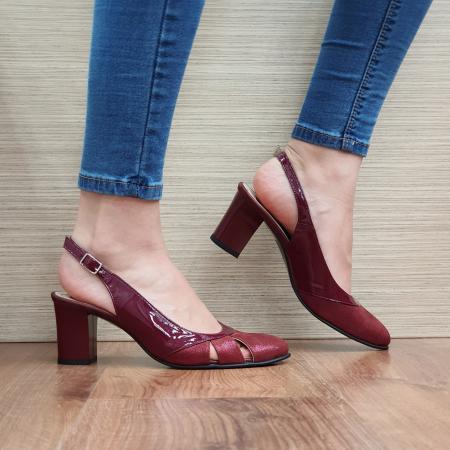 Sandale Piele Naturala Grena Salma0