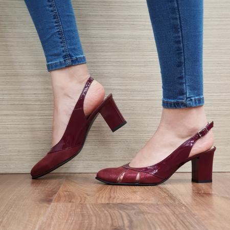 Sandale Piele Naturala Grena Salma1