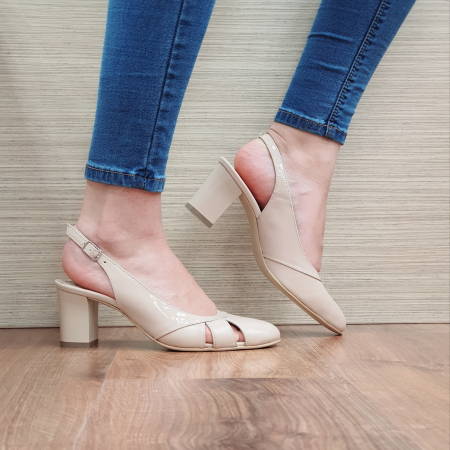Sandale Piele Naturala Bej Salma [0]