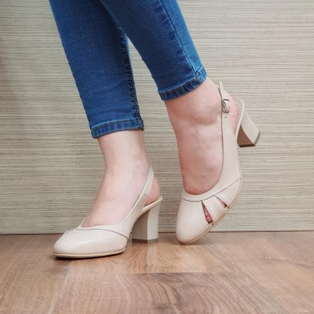 Sandale Piele Naturala Bej Salma [2]