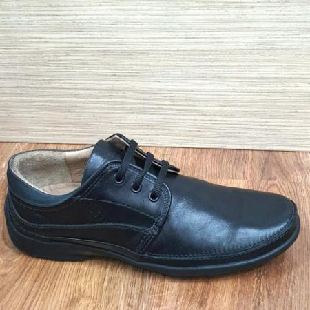 Pantofi Barbati Casual Piele Naturala Negri Iacob B000614