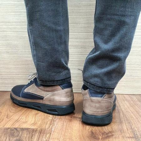 Pantofi Barbati Casual Piele Naturala Bleumarin Albert B000623