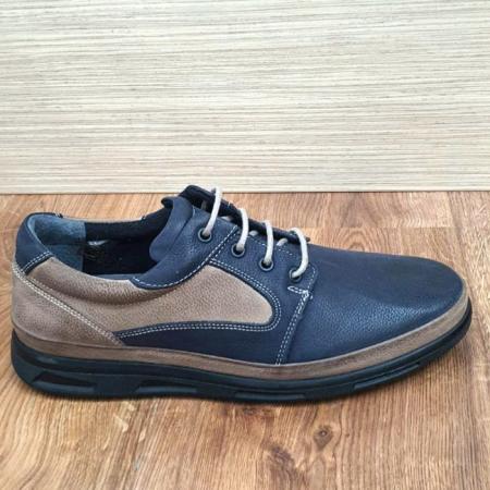 Pantofi Barbati Casual Piele Naturala Bleumarin Albert B000624