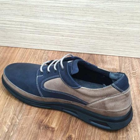 Pantofi Barbati Casual Piele Naturala Bleumarin Albert B000625