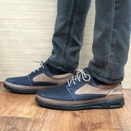 Pantofi Barbati Casual Piele Naturala Bleumarin Albert B000620