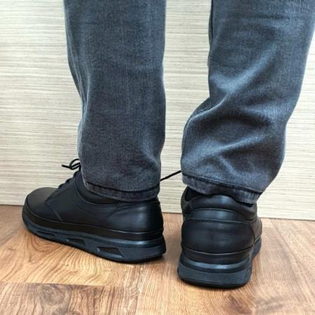 Pantofi Barbati Casual Piele Naturala Negri Albert B000633