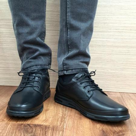 Pantofi Barbati Casual Piele Naturala Negri Albert B000632