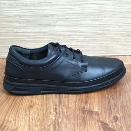 Pantofi Barbati Casual Piele Naturala Negri Albert B000634