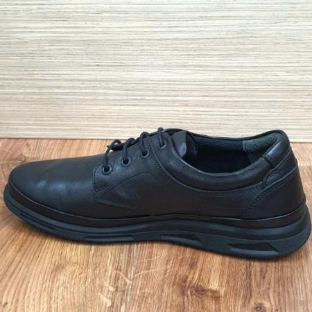 Pantofi Barbati Casual Piele Naturala Negri Albert B000635