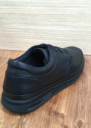 Pantofi Barbati Casual Piele Naturala Negri Albert B000637