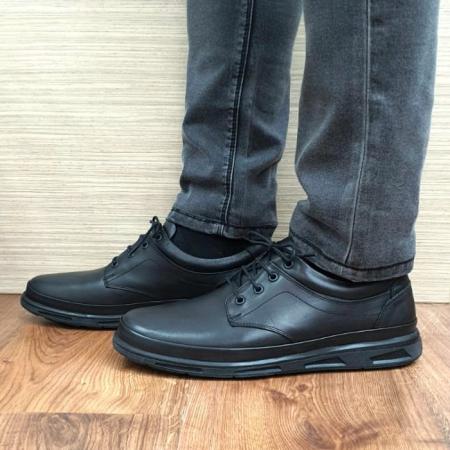 Pantofi Barbati Casual Piele Naturala Negri Albert B000630