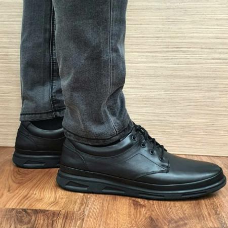 Pantofi Barbati Casual Piele Naturala Negri Albert B000631