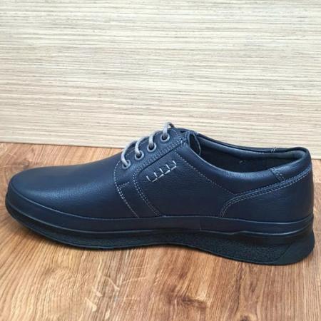 Pantofi Barbati Casual Piele Naturala Bleumarin Alexe B000645