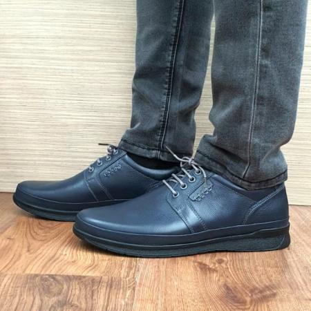 Pantofi Barbati Casual Piele Naturala Bleumarin Alexe B000640