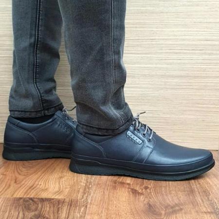 Pantofi Barbati Casual Piele Naturala Bleumarin Alexe B000641