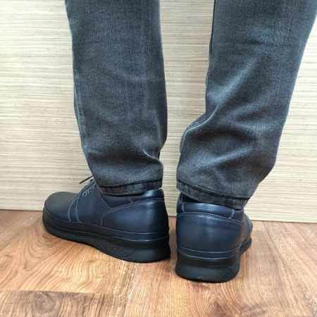 Pantofi Barbati Casual Piele Naturala Bleumarin Alexe B000643