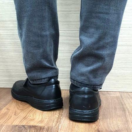 Pantofi Barbati Casual Piele Naturala Negri Adam B000663