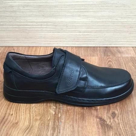 Pantofi Barbati Casual Piele Naturala Negri Adam B000664