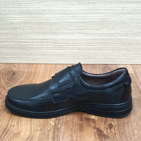 Pantofi Barbati Casual Piele Naturala Negri Adam B00066 [5]
